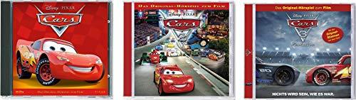 Walt Disney - CD Cars 1 + 2 + 3 Original Hörspiel zu den Filmen im Set - Deutsche Originalware [3 CDs]