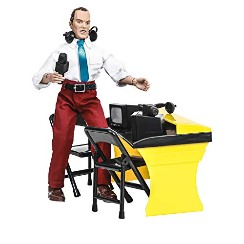 Deluxe Wrestling Figure Commentators Playset with Announcer Figure for Wrestling Action Figures