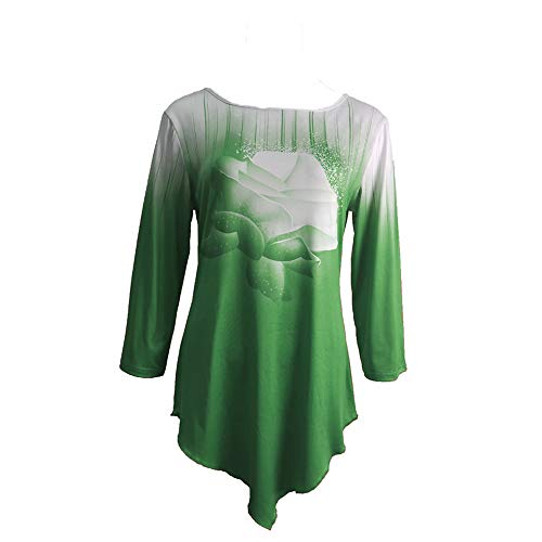 FrüHling Sommer Herbst Neue Trendige Rundhalsrose Rose 3D Gedruckt Lose Damen T-Shirt