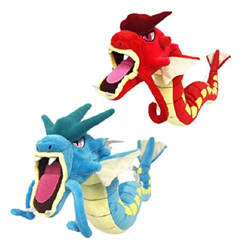 LHAHGLY 2Pcs Anime Pokemon Plush Toy 60Cm,Cute Gyarados Magikarp Red Dragon Blue Dragon Plush Stuffed Collection Doll Kids Birthday Gift Plush Toy