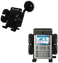 Gomadic Brand Flexible Car Auto Windshield Holder Mount designed for the Samsung SGH-P300 - Gooseneck Suction Cup Style Cradle