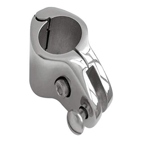 B Baosity Edelstahl Φ 25mm Rohrklemme Rohrschelle Sattelklemme Rohrhalter Rohrbefestigung für Boot, Jacht