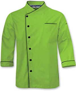 Long Sleeves Stylish Unisex Chef Jacket with Contrast Piping