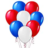 Red White and Blue Balloons 11 inches 120 Count, Premium Quality Latex for Fourth of July, Memorial Day, USA, American and Patriotic Events, 4th of July Party Supplies and Decorations
