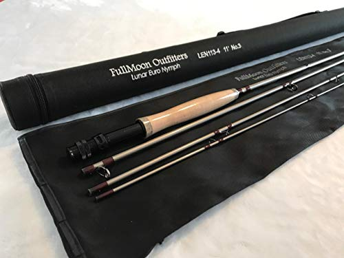FullMoon Outfitters Super Sale!!! FMO Lunar Series 11' 3WT Euro Czech Nymph Fly Rod Mod. Fast Action 40T Carbon Fiber Trout + Free Tippet Rings!!!