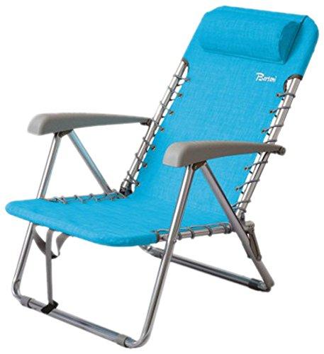 BERTONI alu035textileno Silla de Camping y Outdoor, Light Azul, única