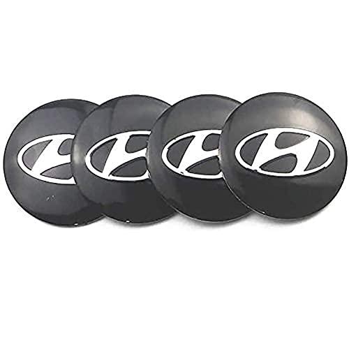 SXZG Tapas centrales de Rueda 4 Piezas, para Hyundai ix35 i20 i30 i40 Tucson Tapa de buje Tapas 56 mm, Estilo de Coche