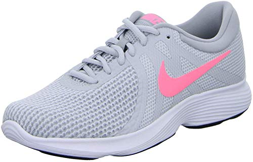Nike Damen Wmns Revolution 4 Eu Laufschuhe, Grau (Pure Platinum/sunset Pulse/wolf Grey/black), 36.5 EU