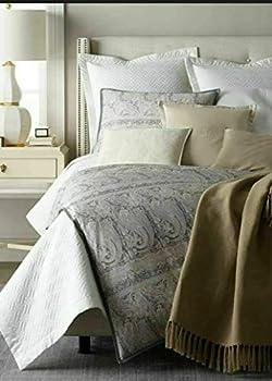 Ralph Lauren Mariella Elton Latte 100% Linen Throw Blanket 54  x 72