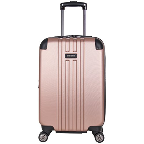 """Kenneth Cole Reaction Reverb 20"""" Hardside Expandable 8-Wheel Spinner Carry-on Luggage, Rose Gold"""