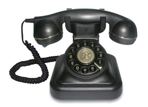 Brondi Vintage 20 - Schnurgebundenes Analog-Telefon im stilvollen Retro-Design mit vergoldeten Details