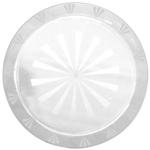 "Party Essentials N16 Plastic Round Tray, 16"" Diameter, Clear (Case of 12)"