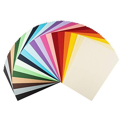 Cartoncino colorato | carta da costruzione | cartoncino in formato DIN A4, 220 g/mq, 100 fogli, 20 colori assortiti