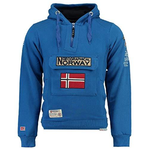 Geographical Norway Sudadera Hombre GYMCLASS 100 rol 14 Azul ELÉCTRICO S