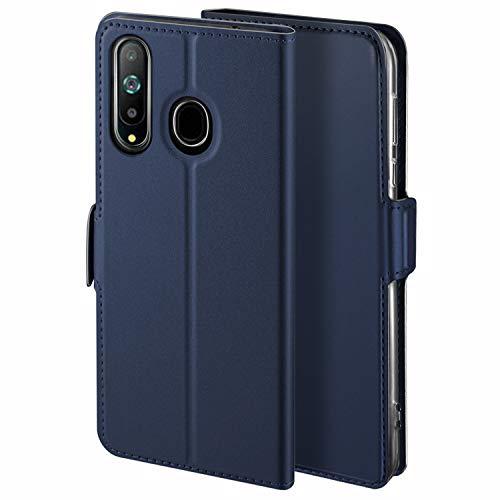 HoneyHülle für Handyhülle Samsung Galaxy A8S Hülle Premium Leder Flip Schutzhülle für Samsung Galaxy A8S Tasche, Blau
