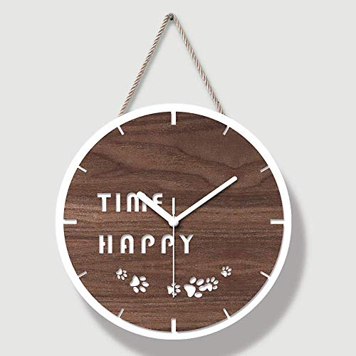 kyman Creative Acrylic Brown Dial Wall Clock Dormitorio Sala