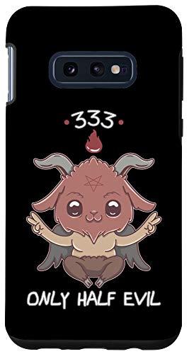Galaxy S10e 333 Only Half Evil Kawaii Satan Cute Satanic Devil Baphomet Case