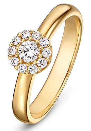 CHRIST Damen-Damenring 585er Gelbgold 1 Brillanten 50 Gold 32003927