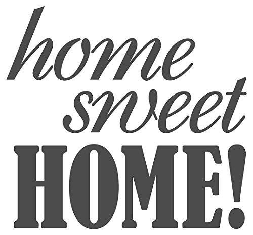 dekodino Wandtattoo Spruch Home Sweet Home