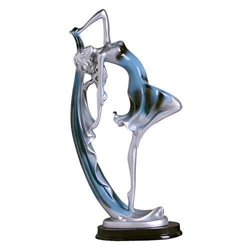 TOYANDONA Estatueta de bailarina de resina com movimentos de dança, estátua de menina dançante, escultura de casa, estatueta de arte, estatueta de decoração de casa