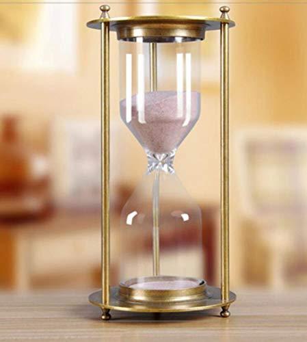 NAWXC Retro Bronze Timing Sanduhr, Home Office Hotel Desktop Dekoration Sand Timer, Küche Kochglas Uhr Sanduhr 60min