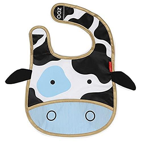 Skip Hop Zoo Little Kid and Toddler Tuck-Away Water Resistant Baby Bib,...