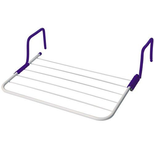Wäschetrockner mit 2 Halter zum Höngen für 3 Meter, zusammenklappbar, 33,5x52 cm: Camping Wäscheleine Balkon Heizung Wäscheständer Handtuchhalter
