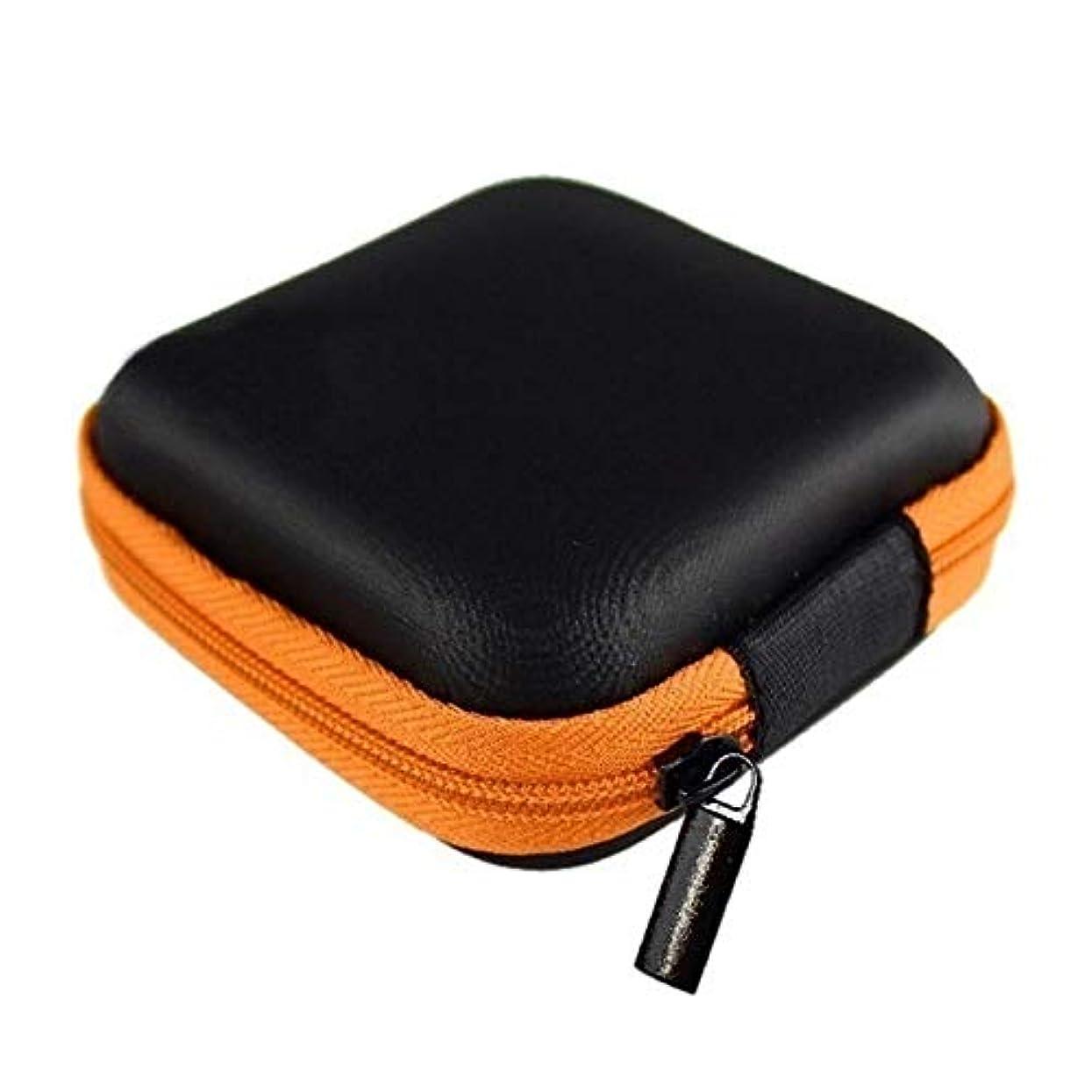 連隊蒸留する自治PYBHR LASPERALモバイルハードストレージボックスオーガナイザー耳カップディスクドライブストレージコンテナ電子部品収納ポーチ1PC多機能 (色 : Orange)