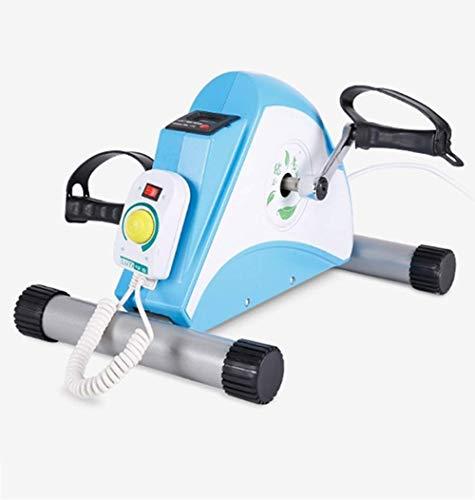 WGFGXQ Mini Cyclette Portatili, Braccio Ginocchio Gamba Pedale Ginnico Attrezzature per Il Fitness, Dispositivo Elettrico Multifunzionale per l allenamento riabilitativo per Anziani