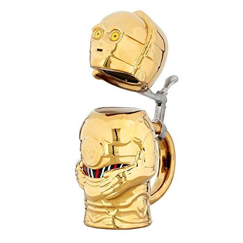 Funko SW04127 Star Wars Steins: Signature: C3-PO, Ceramic, Gold, 15 x 9 x 22.86 cm