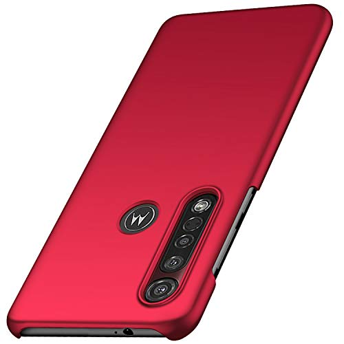 anccer Cover Motorola Moto G8 Plus, [Alta qualità] [Ultra Slim] Anti-Scratch Hard PC Case Custodia per Moto G8 Plus (Rosso Liscio)