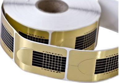 Star Naildesign & Cosmetics professionele vingernagel goud modelleersjablonen hoekig, per stuk verpakt (1 x 300 g)