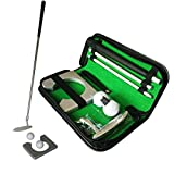 K9CK Golf Putter Training Kit, Golf Equipment 3-section Right Handed Golf Putting Trainer Golf Training Set...