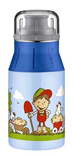 alfi elementBottle Trinkflasche, Edelstahl, Farm blau, 0,4 Liter