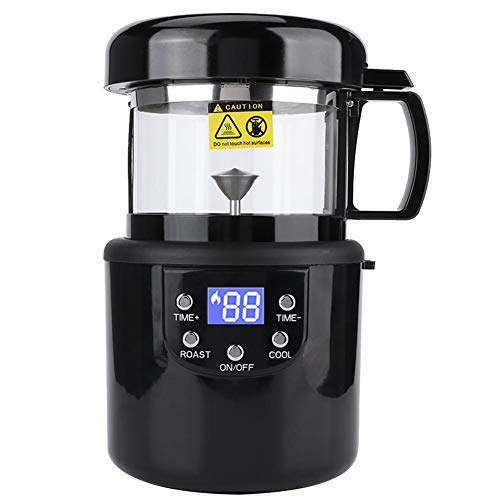 Macchina per torrefazione caffè, mini torrefattore per chicchi di caffè Display digitale Accessori per macchina da forno senza fumo 220-240 V, con istruzioni vocali (inglese, coreano, tailandese)