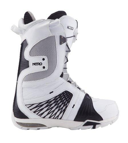 Nitro Snowboards Boots de Snowboard pour Homme Team TLS´13 Blanc/Noir 42,5