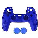 PS5 コントローラー用 保護カバー Kingtai ハンドルシリコンカバー プレイステーション5用保護ケース 滑り止め 簡単装着 ハンドル帽 2個付け(ブルー)