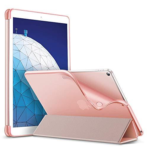 ESR Hülle kompatibel mit iPad Air 3 2019 10.5 Zoll - Ultra Dünnes Smart Hülle mit weiche TPU Backcover - Auto Schlaf-/Aufwachfunktion - Kratzfeste Schutzhülle für iPad 10.5
