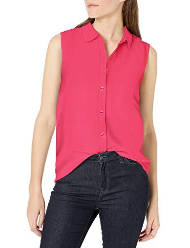 Amazon Essentials Camisa de Lino sin Mangas Mujer