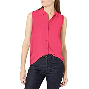 Amazon Essentials Women's Sleeveless Linen Shirt