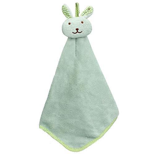 Nvfshreu Keuken Cartoon Dierlijke Doek Zachte Pluche Theedoeken Handdoek Ophangen Eenvoudige Stijl (Groen) Thuis Handig Ontwerp Rustieke Zuigende Reiniging Handdoeken (Kleur : Grün, Maat: Grootte)