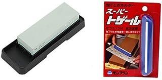 【セット買い】貝印 コンビ砥石セット (#400・#1000) AP-0305 + 清水製作所 庖丁とぎ角度固定ホルダー スーパートゲール