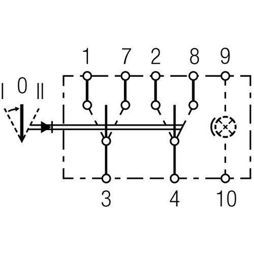 HELLA 6FH 008 948-022 Schalter - Wippbetätigung - Anschlussanzahl: 8
