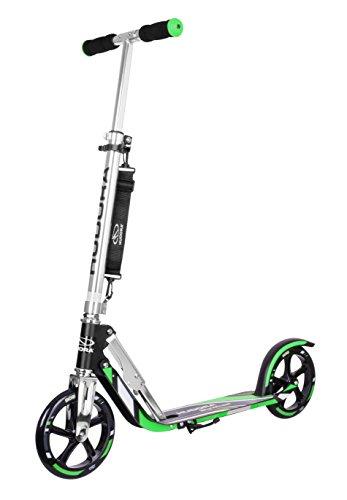 HUDORA 14708 BigWheel 205-Das Original mit RX Pro Technologie-Tret-Roller klappbar-City-Scooter, grün/schwarz