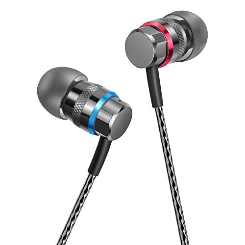 HIFI WALKER in Ear Kopfhörer Kabel, HiFi Stereo in-Ear Ohrhörer Earphones mit 3,5mm Klinke (KEIN Mikrofon)
