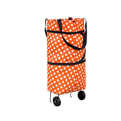 Monrodbitt Modische Design Große Kapazität Wasserdichte Oxford Tuch Faltbare Einkaufs Trolley Rad Tasche Traval Cart Gepäcktasche