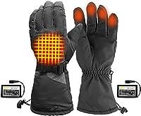 電熱グローブ 電熱手袋 防寒手袋 ヒーター手袋 充電式バッテリー、洗える温度調節可能な電動ハンドウォーマー用レディースメンズアウトドアスキーハイキングキャンプで加熱手袋 (Size : XL)