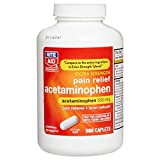 Rite Aid Extra Strength Acetaminophen, 500mg - 500 Caplets | Pain Reliever & Fever Reducer | Migraine Relief Products | Joint & Muscle Pain Relief Pills | Menstrual Pain Relief | Back Pain Relief