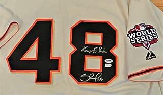 Pablo Sandoval Autographed Signed San Francisco Giants Jersey 2012 World Series PSA & MLB