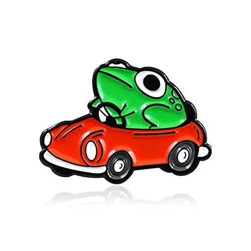 Ruby569y Broche, broche de rana coche conduccin dibujos animados travieso nios broche para ropa - verde,